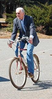 Carter riding a bicycle