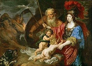 Joachim von Sandrart - Minerva und Saturn beschützen Kunst und Wissenschaft (KHM)