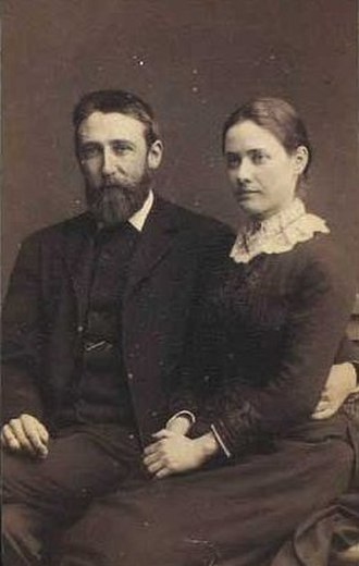 Joakim Skovgaard - Joakim Skovgaard and his wife, Agnete, the daughter of Johan Lange (c.1890)