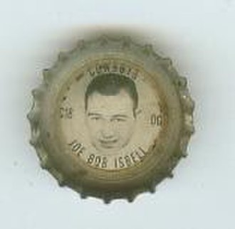 Joe Isbell - Isbell on a Coca-Cola bottle cap from 1966
