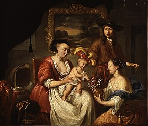 De schilder en zijn familie