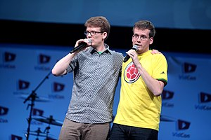 VidCon - VidCon founders Hank and John Green at VidCon 2014