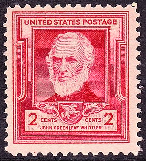 English: US Postage stamp, John Greenleaf Whit...
