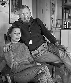 John Steinbeck with Elaine Scott 1950.jpg