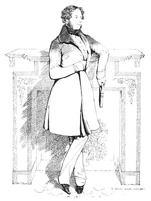John William Kaye - Pen sketch of John William Kaye by Colesworthey Grant, circa 1838