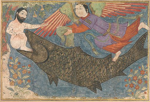 Jonah and the Whale, Folio from a Jami al-Tavarikh (Compendium of Chronicles)