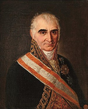 Spanish confiscation - José Canga Argüelles, portrayed by José Cabana.