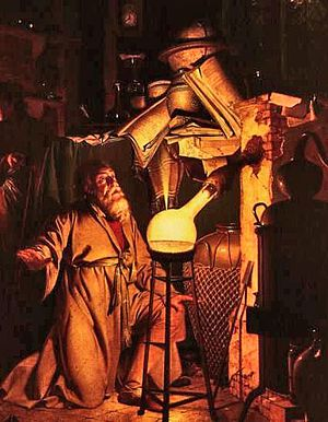 Thomas de Ashton (alchemist) - The Alchemist in Search of the Philosophers Stone (1771) by Joseph Wright of Derby