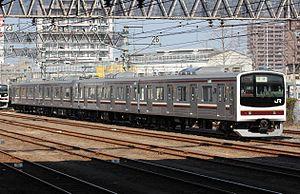 Nikkō Line - Image: Jreast 205 600 Nikko Line 20130316