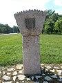 Jubileumi Park emlékmű, Bódé oszlopa, 2019 Ajka.jpg