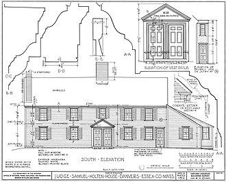 Judge Samuel Holten House - Image: Judge Samuel Holten House south elevation