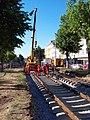 Jugoslávských partyzánů, rekonstrukce trati, práce s jeřábem (01).jpg