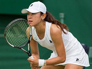 Junri Namigata - Namigata competing in the first round of the 2015 Wimbledon Qualifying Tournament