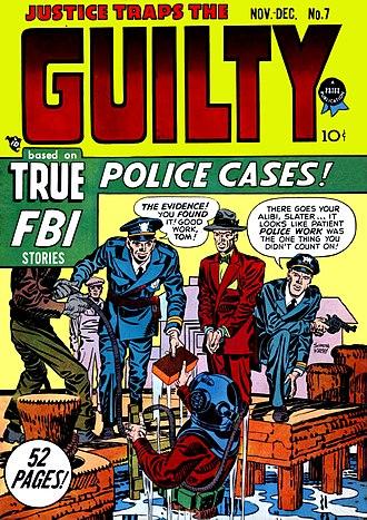 Crime comics - Image: Justice Traps No 7