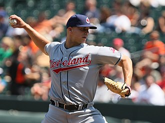 Justin Masterson - Masterson pitching for the Indians in 2009