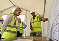 Justine Greening sees the building of Kerry Town Ebola treatment centre in Sierra Leone (15416599290).jpg