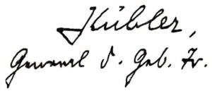 Ludwig Kübler - Image: Kübler Unterschrift