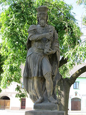 Svatopluk I of Moravia - Statue of Svatopluk I in Loštice, Czech Republic