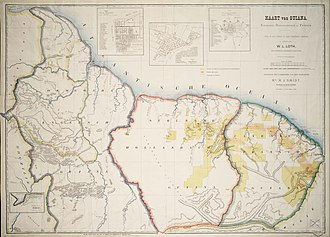The Guianas - Map of the Guianas dated 1888.
