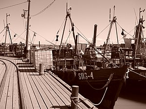 Agriculture in Estonia - Old fishing ships in Kelnase harbour, Prangli