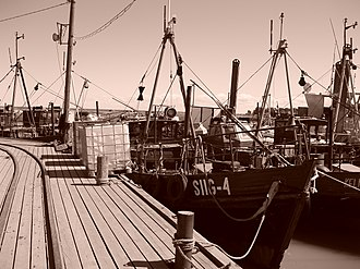 Agriculture in Estonia - Old fishing ships in Kelnase harbour, Prangli