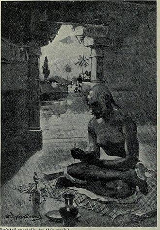 Kālidāsa - Kalidasa inditing the cloud Messenger, A.D. 375
