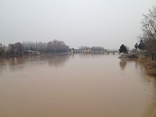 Kara Darya river in Kyrgyzstan and Uzbekistan