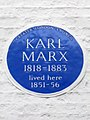 Karl Marx 1818-1883 lived here 1851-56.jpg
