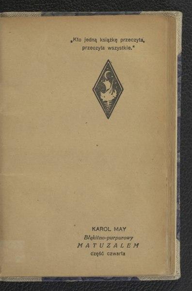 File:Karol May - Błękitno-purpurowy Matuzalem Cz.4.djvu