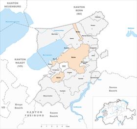 Map of Murten Morat