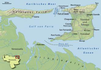 Gulf of Paria - The Gulf of Paria between Venezuela and Trinidad.