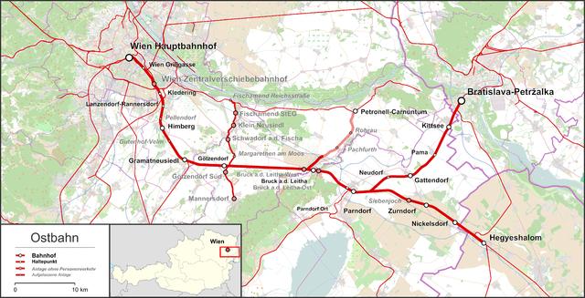 Strecke der Ostbahn (Österreich)