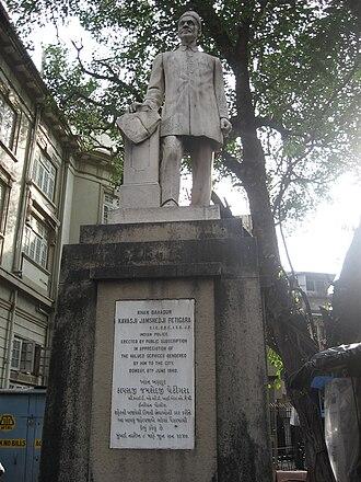 Kavasji Jamshedji Petigara - statue of Petigara near Metro Adlabs in South Mumbai.
