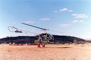 Kawasaki KH-4 - A KH-4 at Glen Helen NT Australia.