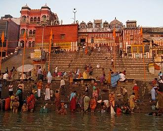 Ghats in Varanasi - Kedar Ghat in Varanasi.