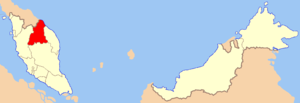 Maps of Malaysia with Kelantan highlighted