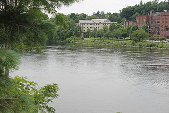 Kennebec River - Image: Kennebec River at Augusta, ME IMG 2044