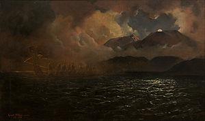Mount Tarawera - The Phantom Canoe: A Legend of Lake Tarawera, by Kennett Watkins