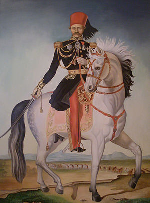 Hayreddin Pasha - Portrait of Khair al-Din Pasha on horseback