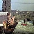 Kilátás a Kisfaludy-ház teraszáról. Fortepan 713.jpg