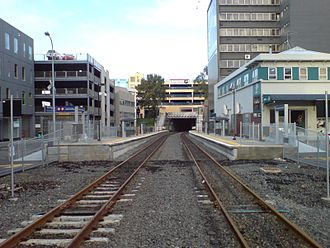 Newmarket railway station, Auckland - Newmarket West, one of two temporary stations that served the area while the new station was being built