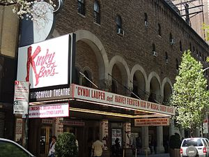 Kinky Boots (musical) - Kinky Boots on the marquee of the Al Hirschfeld Theatre