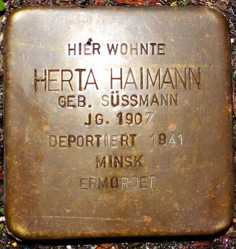 Kirchberg im Hunsrück Stolperstein Kappeler Straße 3 Herta Haimann.jpg