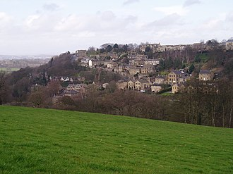 Kirkburton - Kirkburton: Looking north from Riley towards Burton Dean and Highburton
