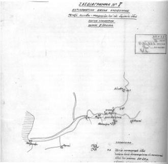 Battle of Kleisoura Pass - Kleisoura pass Greek plan of defense.