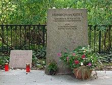 Grab von Heinrich von Kleist und Henriette Vogel am Kleinen Wannsee vor der 2011 erfolgten Renovierung (Quelle: Wikimedia)