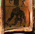 Kleitias e vasaio ergotimos, cratere françois, 570 ac ca. artemide e aiace che porta achille morto 03.JPG