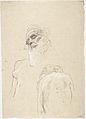 Klimt - Greisenhaupt, sitzender weiblicher Rückenakt, rechte Seite eines weiblichen Oberkörpers.jpeg