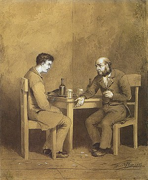 Raskolnikov and Marmeladov from Crime and Puni...