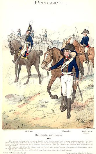 Battle of Schleiz - Prussian horse artillery, 1805